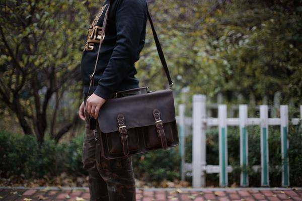 Sale, HandMade Leather Laptop Bag, Leather Briefcase, Business HandBag, Men's Me image 6