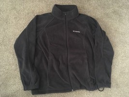 Womens Columbia Black Zip Up Fleece, Size 1X - $24.99