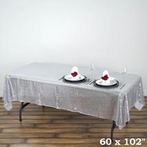 "BalsaCircle 60x102"" Sequin RECTANGULAR Tableclo... - $22.96"