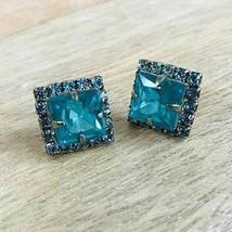 Sorrelli Square Cut Blue Zircon Crystal Post Earring - $48.51