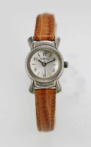 Fossil Watch Womens White Water Resistant Brown Leather Stainless Silver... - $33.46