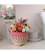 Preserved Flower Arrangement Eternity Roses in Handmade Ceramic Vase Pot... - $22.95+
