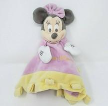 Disney Parcs Bébé Rose Jaune Enfant Minnie Mouse Sécurité Couverture Pel... - $45.76