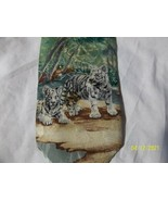 Endangered Species White Tiger Tie 100% Silk Made in the USA 61 x 4 - $16.99