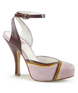 """PIN UP COUTURE Cutiepie-01 Series 4 1/2"""" Heel Ankle-Strap Sandal - Lilac Multi F - $39.95"""