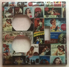 Coke Coca Cola Old posters Light Switch Power Outlet Wall Cover Plate Home decor image 4