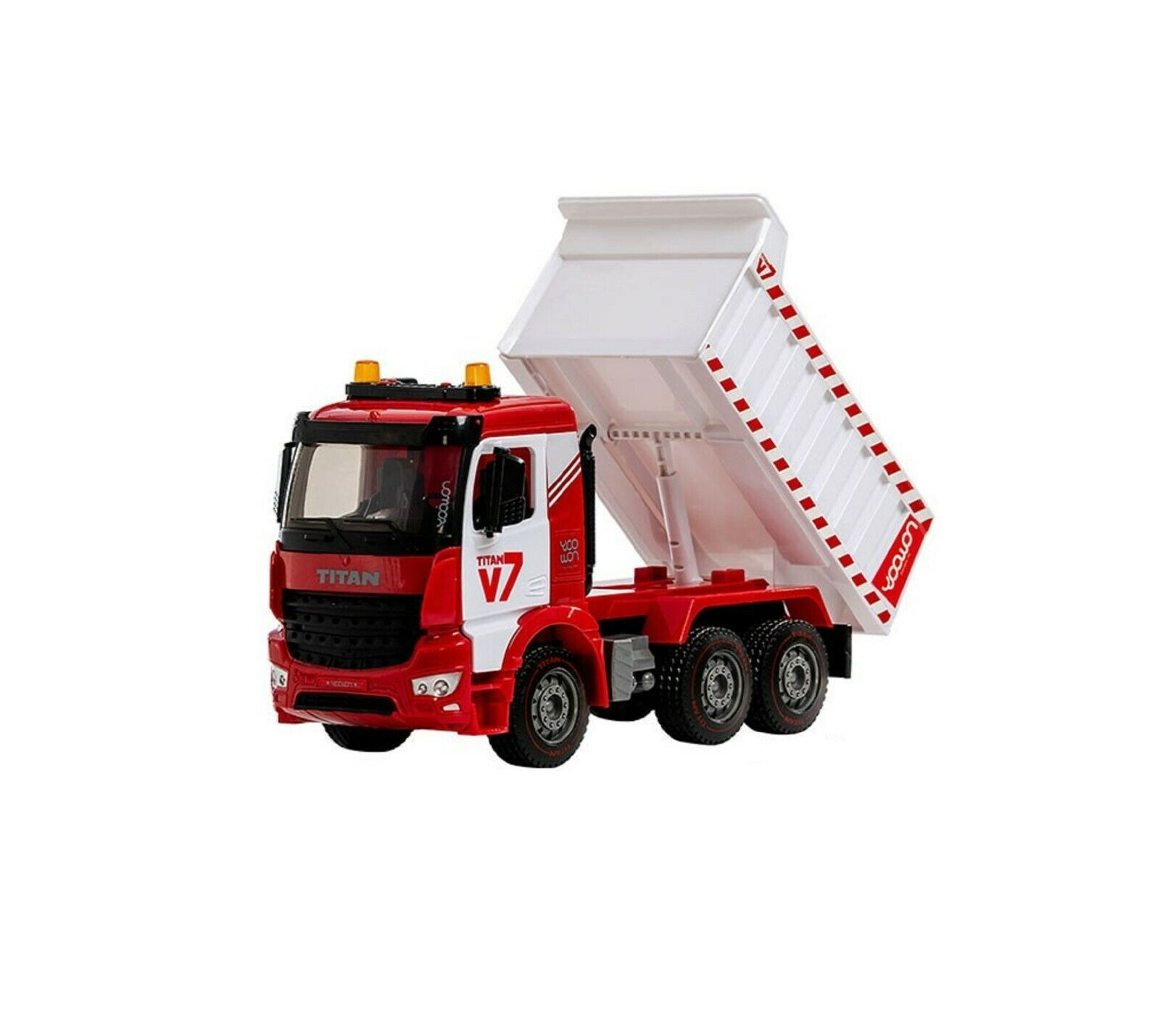 Yoowon Toys Titan Dump Truck Car Vehicle Sound Lights Heavy Equipment Play Toy