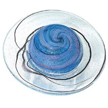 Glass Eye Studio Celestial Series Rings of Saturn Paperweight Art Decor ... - $119.95