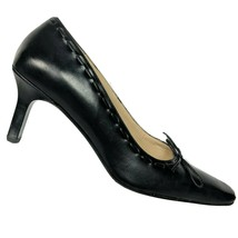 Coach Womens Casandra Black Leather Square Toe Pump Heels with Bow Size ... - $66.02