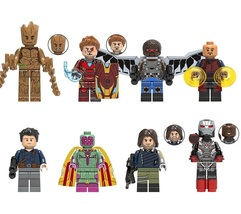 8pcs Figure Superhero Avenger infinity wars Falcon Wong Winter Soldier B... - $12.99