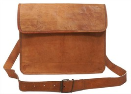 """New 13"""" 100% Pure Rustic Soft Leather Brown Shoulder Messenger Laptop Of... - $69.92"""