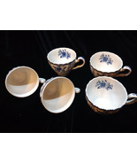 Vintage Johnson Brothers Indies Ironstone England Tea Cups Set Of 5 - $25.00