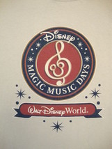 Walt Disney World Disneyland Magic Music Days Schools Camp Souvenir T Sh... - $15.83