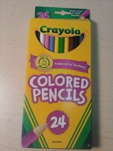 24 Count Crayola Pre-Sharpened Nontoxic Bright Colored Pencils Assorted ... - $5.39