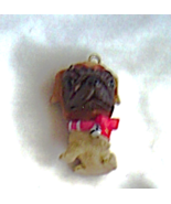 The Dog Artist Collection Pug Red Bow and Bell Christmas Tree Mini Ornam... - $9.99