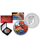 2017 1 oz Silver Tuvalu SPIDERMAN BU Colorized NY Limited of 500 Edition... - $65.41