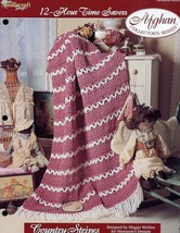 Country Stripes Afghan TNS 12-Hour Time Savers Crochet PATTERN/INSTRUCTIONS - $1.23