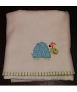 Garanimals Blue/Green Turtle Orange Bird Animals Baby Blanket Lovey Cream/Green - $16.78