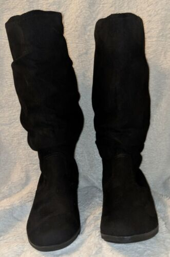 Arizona Jeans Co Kendra Textile Black Mid Calf Boots Size 7M