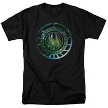 Battlestar Galactica Sci-fi TV series galaxy emblem adult graphic t-shirt BSG250 image 1