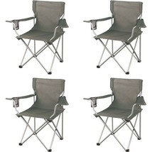 Portable Beach Chairs Outdoor Folding Camp Camping Picnic Lawn Chair Set... - $42.57