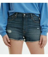 NWT $70 Levi's Jeans 501 High-Waisted Denim Short in Silverlake Blue 28 - $26.73
