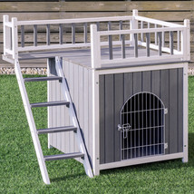 Two Sizes Wooden Pet House Dog Cat Puppy Room-L - $130.72