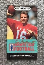 Joe Montana II: Sports Talk Football  **ORIGINAL MANUAL ONLY** Sega Genesis - $4.27