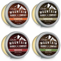 Beard Balm Variety Pack - 4 Beard Balm Samples 1 oz each Made with Natural Oils,