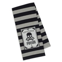 "Unfiltered Poison Dish Towel New DII 18""x28"" 100% Cotton Black White Sku... - $13.85"