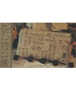 August Word Play cross stitch chart  With Thy Needle Brenda Gervais  - $9.00