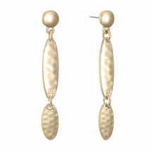 Liz Claiborne Women's Gold Drop Earrings Gold Tone New - $18.80