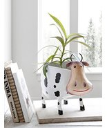 Metal Planter Stand with Cow Shape For Outdoor Indoor Garden Decor Accessories - $38.11