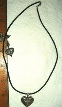 VTG STERLING SILVER PUFFY HEART ETRUSCAN ONYX MARCASITE NECKLACE 2pr EAR... - $297.99