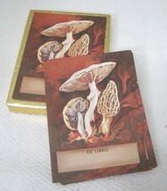 "Bookplates Antioch 34PC  Fancy Mushrooms Morel 3 7/8"" x 2 7/8""  Book Pla... - $12.38"