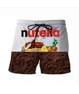 New Nutella Short Pants Delicious Chocolate Sauce Prints 3D Shorts Mens ... - $28.56