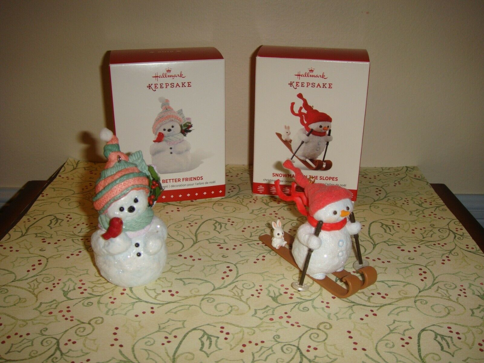 Primary image for Hallmark 2015 Snow Better Friends & 2017 Snowman On The Slopes Ornaments