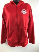 Adidas Climawarm Toronto Football Club Red Zip Up Hoodie Medium  - $28.12