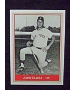 1982 TCMA Baseball #13 John Elway [Oneonta Yankees] Rookie Reprint - $4.00