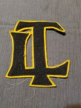 """Letter L and T (LT) High School College Letterman Patch 5"""" x 6"""" Brown - $12.59"""