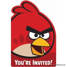 ANGRY BIRDS Party Supplies Birthday Animal INVITATIONS Decoration INVITE... - $9.75
