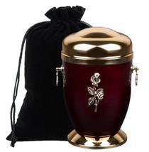Homenaje Cenizas Urna Crematoria para Adultos con Rosas Funeral Humano - $120.35