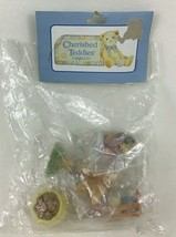 Cherished Teddies Follow The Rainbow Mini Figures Sign Pot Enesco Vintag... - $16.78