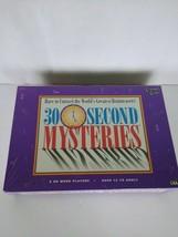 30 SECOND MYSTERIES - Brainteaser Game - Vintage 1995 University Games  - $14.95