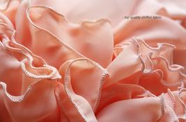 Coral Chiffon High Waist Full Maxi Skirt Coral Pink Wedding Chiffon Skirts image 7