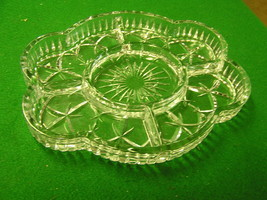 From Portugal....Lead Crystal Divided DISH - $12.19