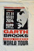 Garth Brooks 2014 Concert Tour Rupp Arena KY White T-Shirt Medium Hanes 0120! - $19.79