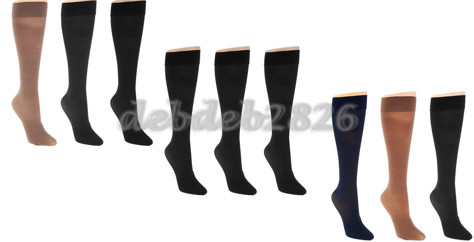 Primary image for Legacy Sheer Graduated Compression Socks Set of 3