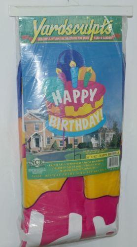 New Creative Enterprises 21404 Yardsculpts Happy Birthday Yard Decoration Cake