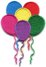 Balloons birthday party embroidered applique iron-on patch S-1447 - £2.24 GBP